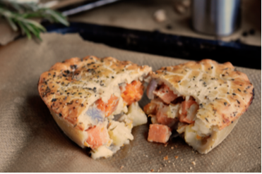 Butternut Squash and goat cheese pie